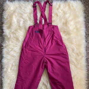 Columbia Pink Partial Zip Women's Snowsuit